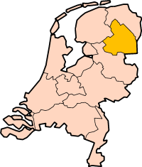 Location of Drenthe