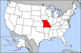 Location of Missouri