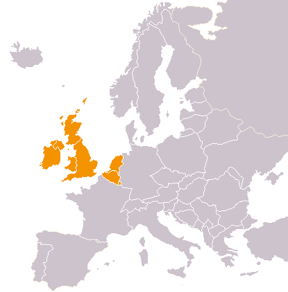 Location of Western Europe