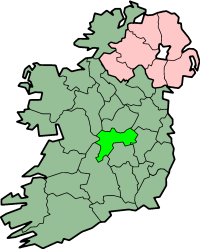 Location of Offaly
