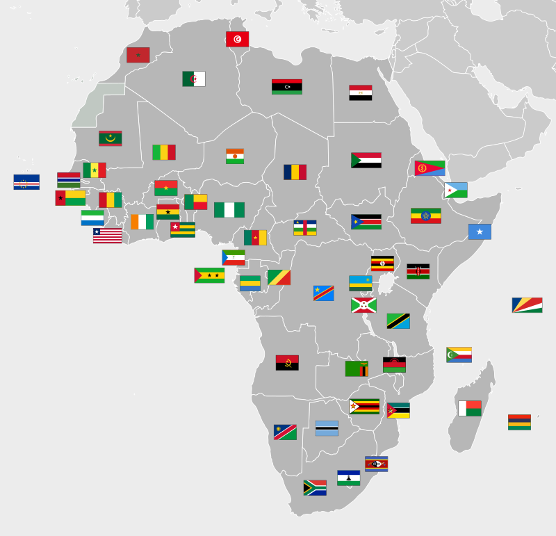 Location and Hattrick countries of Africa