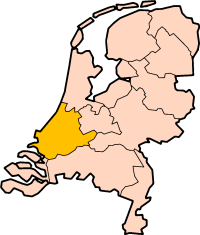 Location of Zuid-Holland