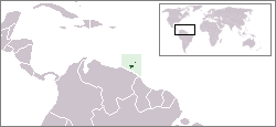 Location of Trinidad & Tobago