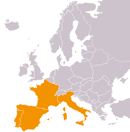 Location of Latin Europe