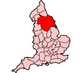 Location of Yorkshire