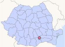 Location of Bucharest