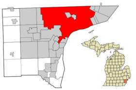 Location of Detroit