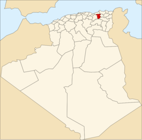 Location of Mila_Province