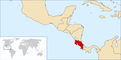 Location of Costa Rica