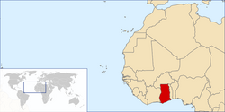 Location of Ghana