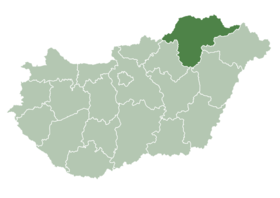 Location of Miskolc