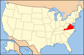 Location of Virginia