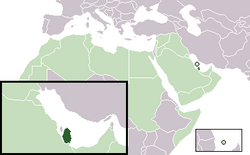 Location of Qatar