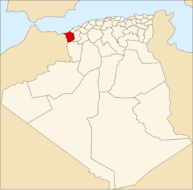 Location of Tlemcen_Province