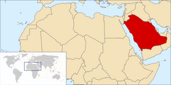 Location of Saudi Arabia