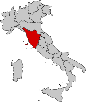 Location of Tuscany