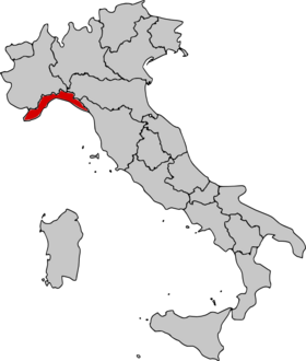 Location of Liguria