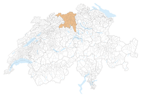 Location of Aargau