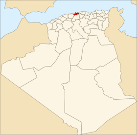 Location of Blida_Province