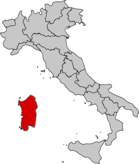 Location of Sardinia