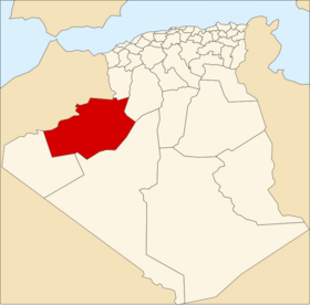 Location of Béchar_Province