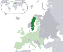 Location of Sweden