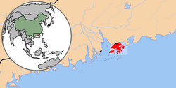 Location of Hong Kong