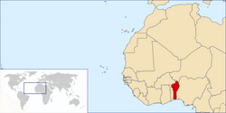 Location of Benin