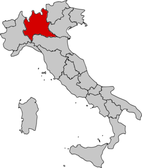Location of Lombardy
