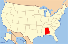 Location of Alabama