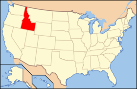 Location of Idaho