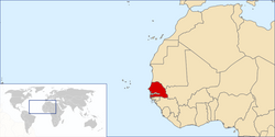 Location of Senegal