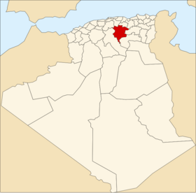 Location of M'Sila_Province