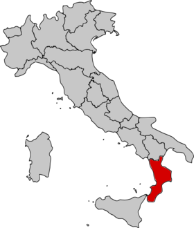 Location of Calabria